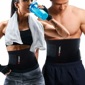 AZSPORT Waist Trimmer Trainer for Men & Women, Sweat Ab Belt for Weight Loss